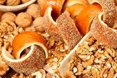 Kurtos kalacs. Traditional hungarian cakes with nuts Stock Image
