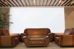 kurtyna projekt white lounge wewnętrznego Fotografia Royalty Free