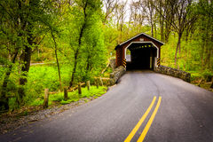 Kurtz's Mill Covered Bridge in Lancaster County Central Park, Pe Royalty Free Stock Images