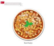 Kuru Fasulye or Traditional Hot Turkish Bean Stew Stock Images