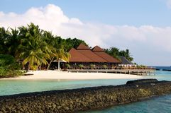 Kurumba restaurant maldives Stock Photo