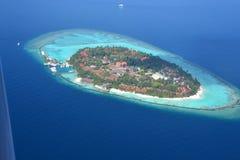 Kurumbatoevlucht de Maldiven Royalty-vrije Stock Fotografie
