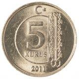 kurusmynt för 5 turk royaltyfria foton