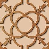Kurva c för runda för modell för sömlös lättnadsskulpturgarnering retro royaltyfri illustrationer