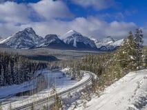 Kurva för Morant ` s, Banff nationalpark Royaltyfria Foton