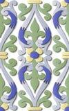 Kurva för spiral för modell för sömlös lättnadsskulpturgarnering retro royaltyfri illustrationer
