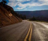 Kurva i vägen Utah fotografering för bildbyråer