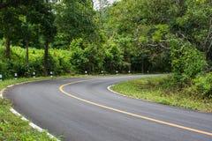 Kurve der Straße stockbilder
