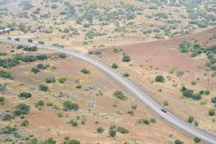 Kurve der Straße gesehen von oben Lizenzfreie Stockfotos