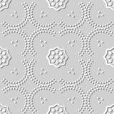 Kurve Dot Line Frame Flower Kunst des Weißbuches 3D vektor abbildung