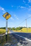 Kurve Signage Lizenzfreies Stockfoto