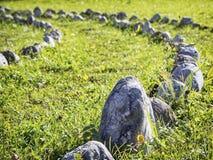 Kurve von Felsen Stockfoto