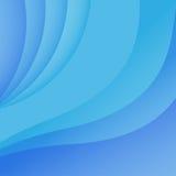 Kurven auf einem blauen Hintergrund Stockfotografie