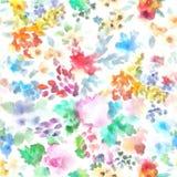 Kurven-Blätter und Dots Pattern Flora Bouquet Paintings-Handfarbe Lizenzfreie Stockfotos