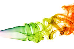 Kurven des farbigen Rauches Lizenzfreie Stockfotografie