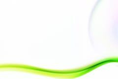 Kurven des farbigen Rauches Stockfotografie