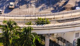 Kurven des schnellen Schienenstrangs Lizenzfreie Stockfotografie