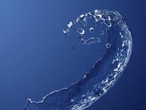 Kurven des Spritzens des Wassers Stockfoto
