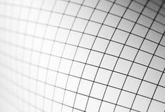 Kurven des Zeichenpapiers mit Maßeinteilung