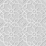 Kurven-Kontrollkreuz runder Dot Line Frame Flower Kunst des Weißbuches 3D lizenzfreie abbildung