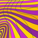 Kurven von Streifen Stockfotos
