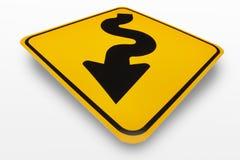 Kurven-voran Zeichen Stockbilder