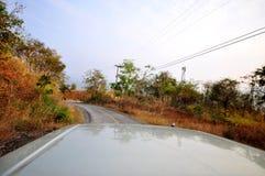 Kurvenfahrweg Stockfoto