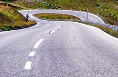 Kurvenreiche Straße Stockfotografie