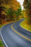 Kurvenreiche Straße Stockfoto