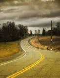 Kurvenreiche Straße Stockfotos