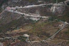 Kurvenreiche Straße auf dem Süden von Armenien Lizenzfreies Stockbild