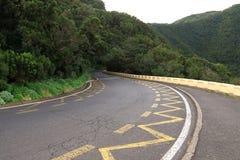 Kurvenreiche Straße in Teneriffa Lizenzfreies Stockfoto