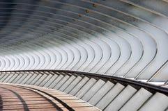 Kurvformer i bro royaltyfria bilder