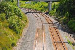 kurvjärnväg Arkivbild