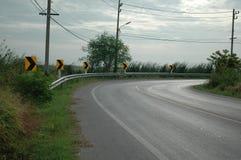 Kurvlandsväg Royaltyfri Bild