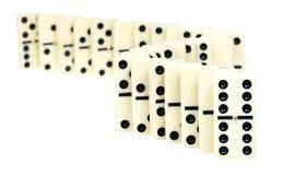 Kurvlinje från domino Fotografering för Bildbyråer