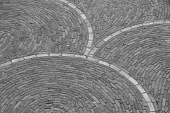 Kurvor av tegelstenar Arkivfoton