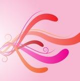 kurvredfärgstänk vektor illustrationer