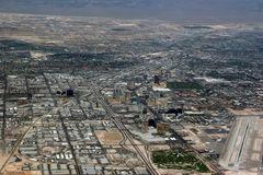 Kurz vor Landung in Las Vegas Lizenzfreie Stockbilder