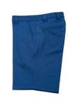 Kurze blaue Hosen für Männer Stockbild