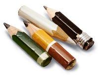 Kurze Bleistifte Lizenzfreie Stockbilder