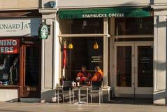 Kurze Pause für Kaffee Stockfotos