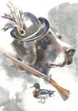 Kurzhaar, chasseur poursuit des designs de carte, logo editable, vous pouvez entrer dans votre logo ou texte Photos stock