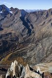 Kurzras Maso Corto - das Skiort Val Senales Glacier Schnalstaler Gletscher stockfotografie