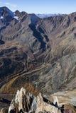 Kurzras Maso Corto - la estación de esquí Val Senales Glacier Schnalstaler Gletscher fotografía de archivo