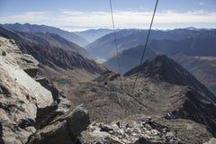 Kurzras Maso Corto - la estación de esquí Val Senales Glacier Schnalstaler Gletscher fotografía de archivo libre de regalías