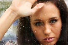 Kus de regen Stock Foto