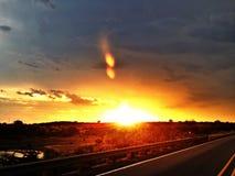 Kus de Zonsondergang Stock Afbeelding