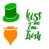 Kus me I ` m het Iers affiche royalty-vrije illustratie