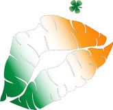 Kus me - ik ben Iers Stock Foto